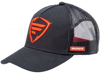 T_FAVORITE CAP BLACK RED LOGO 58 SNAPBACK MESH*