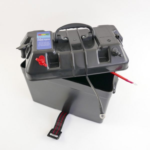 Boat Battery Power Box 12V output, USB and Lighter Socket -