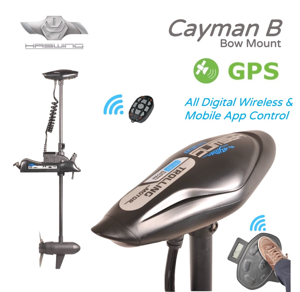 HASWING Cayman B /GPS, Bow Mount Electric Outboard Trolling Motor -