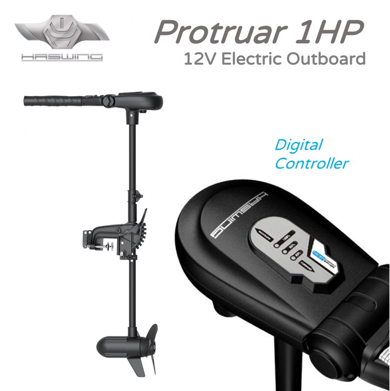 HASWING Protruar 1HP Electric Outboard 12V -