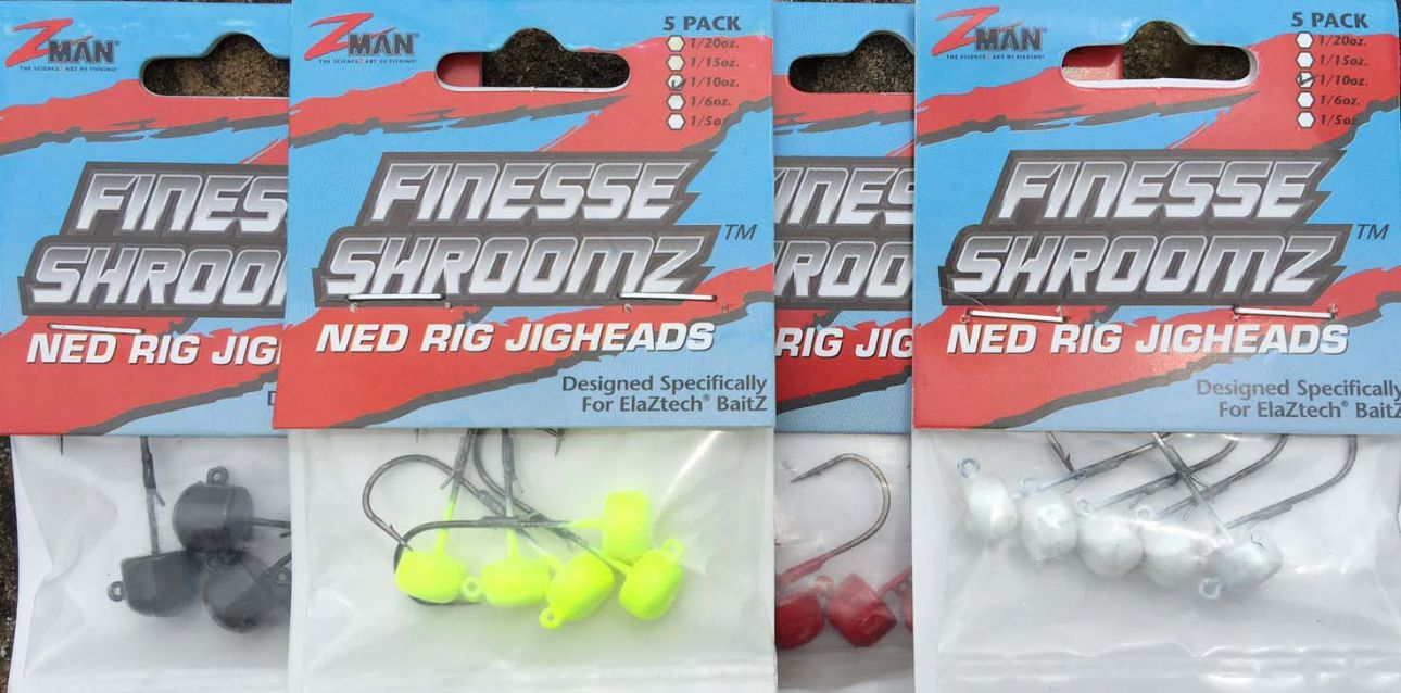 Z-MAN Finesse ShroomZ NED RIG Loaded Heads -