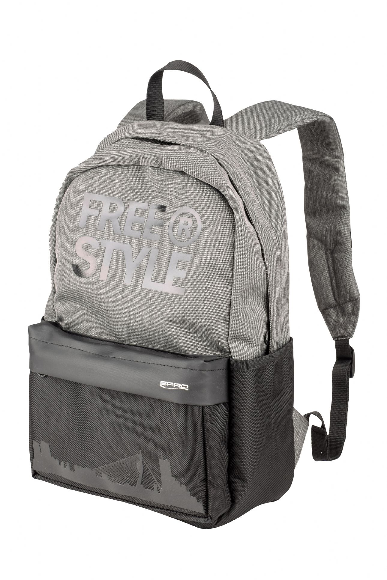 Spro Freestyle Classic Black Grey Backpack -