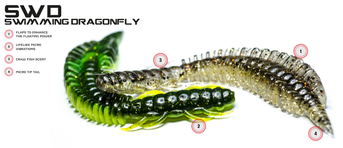 Molix Swimming Dragonfly Worm Lure -