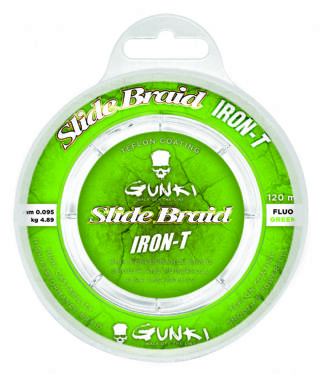 Gunki Slide Braid Iron T 120 Flouro Green Braid