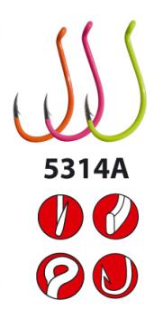 Gamakatsu LS 5314 Multi Coloured Drop Shot Hooks from