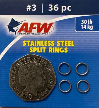 AFW Stainless Steel Split Rings